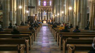 La cathédrale Saint-Apollinaire de Valence, le 1er novembre 2020. (NICOLAS GUYONNET / HANS LUCAS)