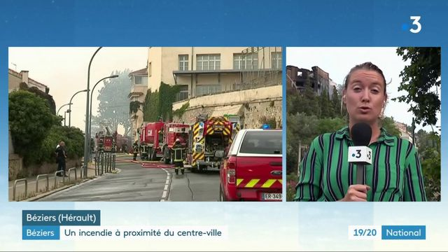 Béziers : un incendie à proximité du centre-ville