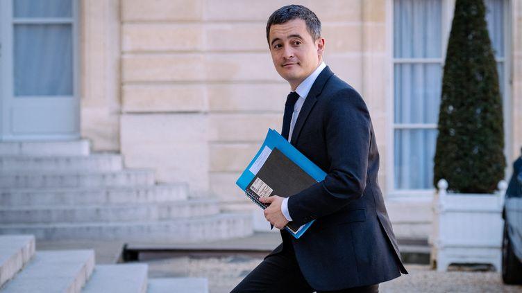 Le ministre de l'Action et Comptes publics, Gérald Darmanin, arrivant à l'Elysée, le 29 mars 2019 à Paris. (MARIE MAGNIN / HANS LUCAS / AFP)