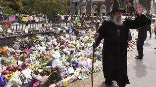 Ian Brackenbury Channell, le sorcier de Christchurch en Nouvelle Zélande en 2019. (WILLIAM WEST / AFP)