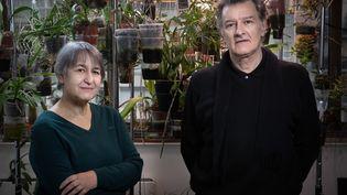Anne Lacaton et Jean-Philippe Vassal dans leur atelier à Montreuil. (JOEL SAGET / AFP)