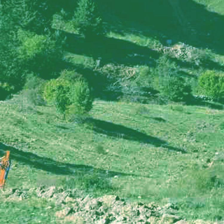 Une habitante du Châtelard (Savoie) signale le déversement, dans une zone classée Natura 2000, de remblai de chantiers. (CAMILLE ADAOUST / FRANCEINFO)