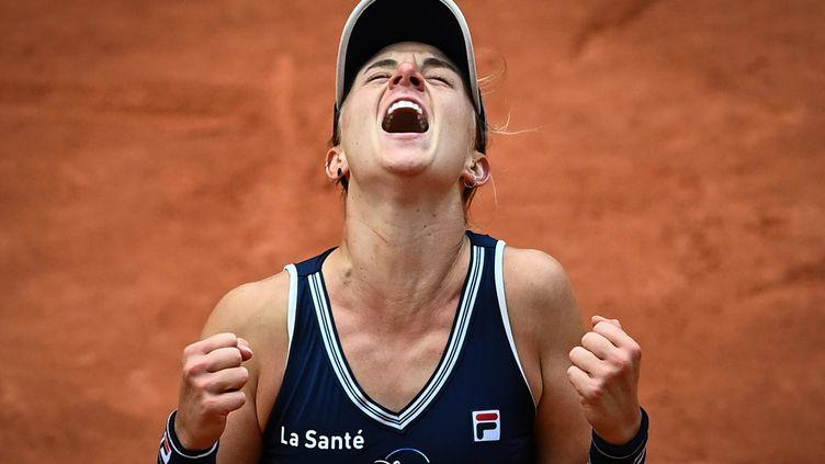 Nadia Podoroska, qui a battu Elina Svitolina en quart de final, s'est qualifiée pour la première fois de sa carrière en demi-final d'un Grand chelem.  (ANNE-CHRISTINE POUJOULAT / AFP)