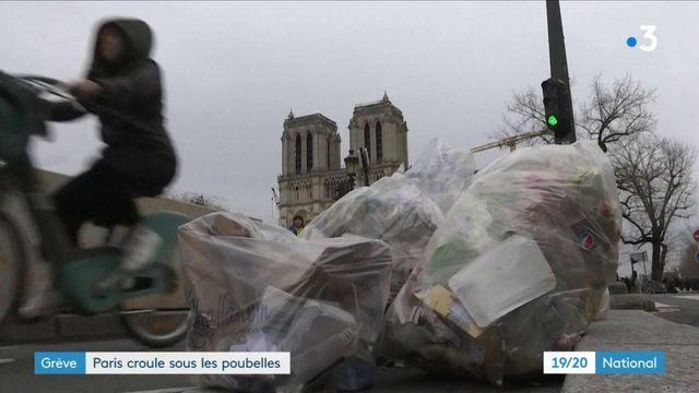 Grèves : Paris polluée par les poubelles