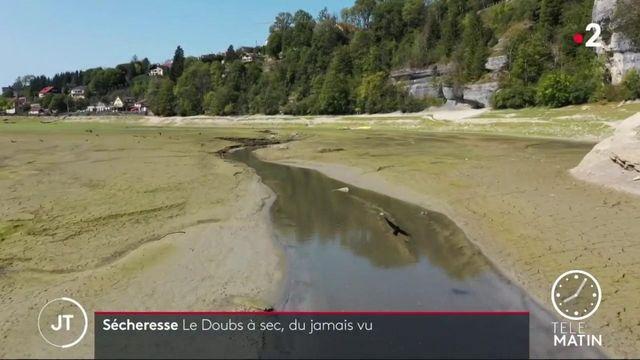 Sécheresse : dans le Doubs, la rivière est devenu un désert
