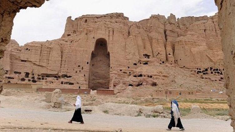 Sur le site des statues bouddhistes détruites par les talibans en août 2001 (AFP - SHAH Marai)