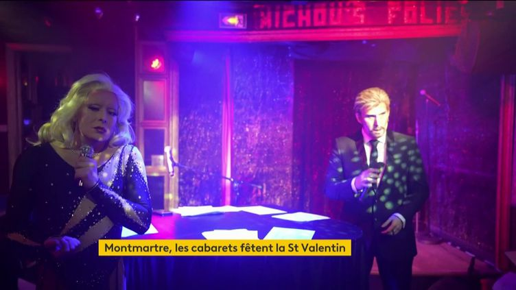 Les trois grands cabarets de Montmartre ont créé un spectacle commun pour la Saint-Valentin, à visionner en ligne. (franceinfo)