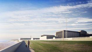 Modélisation du projet de centrale nucléaire Hinkley Point C, au Royaume-Uni. (OLLIER LAURENCE / EDF ENGERY)
