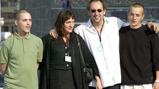 """Gérald Thomassin à la présentation du film """"Paria"""" au festival de cinéma de Saint-Sébastien, en Espagne, le 27 septembre 2000. (MAXPPP)"""