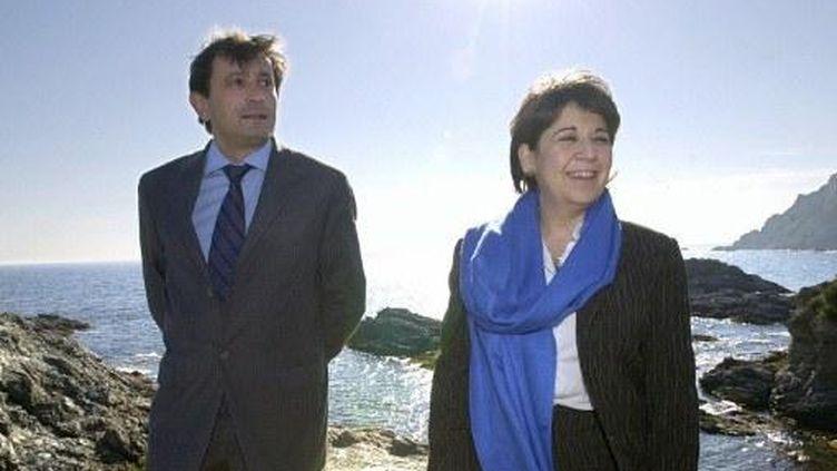 Jean-Sebastien Vialatte et Corinne Lepage en 2002 (illustration) (ERIC ESTRADE / AFP)