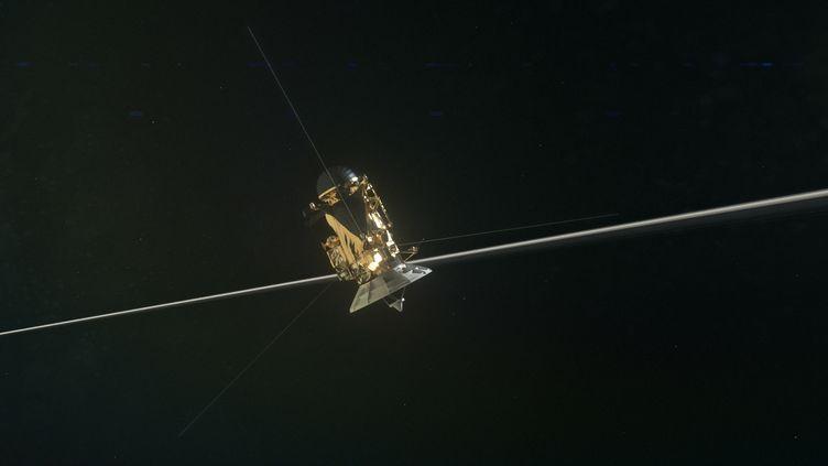La sonde Cassini autour de Saturne, le 15 septembre 2017. (ATLAS PHOTO ARCHIVE/JPL/NASA)