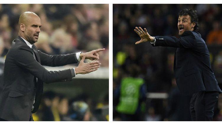Pep Guardiola et Luis Enrique.