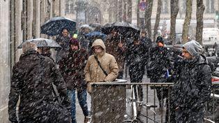 La neige à Paris, le 5 février 2018. (MAXPPP)