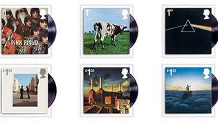Les timbres des pochettes de Pink Floyd de la Royal Mail édités cet été.  (Royal Mail)