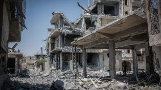L'organisation Etat islamique est en passe de perdre Raqqa, ici en août 2017, l'un de ses derniers fiefs en Syrie. (MORUKC UMNABER / DPA)