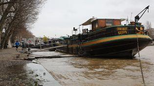 La Seine, le 5 janvier 2018. (LUDOVIC MARIN / AFP)
