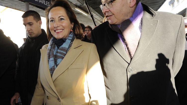 Ségolène Royal et Patrick Mennucci, le 7 février 2012, à Marseille (Bouches-du-Rhône). (ANNE-CHRISTINE POUJOULAT / AFP)