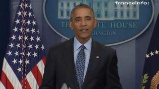 Barack Obama, le 18 janvier 2017 à la Maison Blanche à Washington (Etats-Unis). (FRANCEINFO)