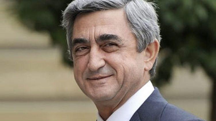 Serge Sarkissian, le président de l'Arménie; (© AFP. E.Feferberg)