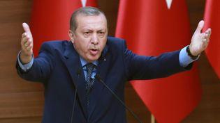 Le président turc Recep Tayyip Erdogan, lors d'un discours, à Ankara, le 29 septembre 2016. (ADEM ALTAN / AFP)