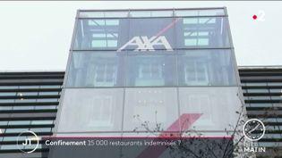 Un bâtiment de l'assureur Axa. (France 2)