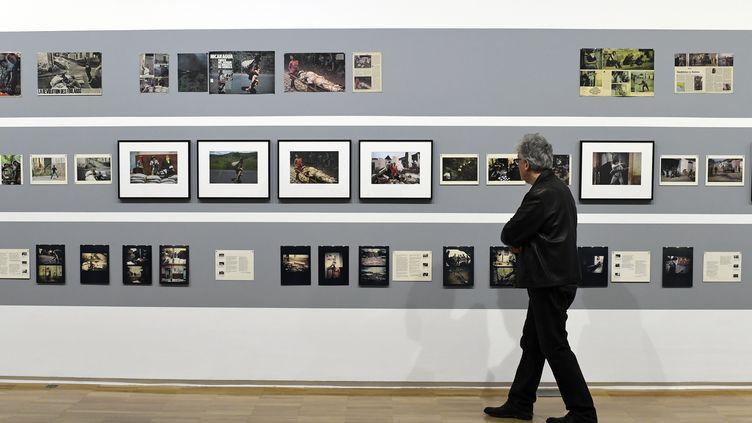 Exposition Susan Meiselas, musée du Jeu de Paume, février 2018 (ALAIN JOCARD / AFP)