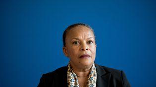 Christiane Taubira lors d'une conférence de presse au ministère de la Justice, le 21 octobre 2015. (NICOLAS MESSYASZ / SIPA)