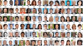 Les visages des 577 députés, le 19 juin 2017. (NICOLAS ENAULT)