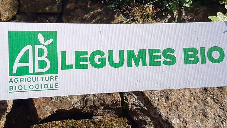 Le logo de l'agriculture biologique. Photo d'illustration. (AURÉLIE LAGAIN / FRANCE-BLEU BREIZH IZEL / RADIO FRANCE)