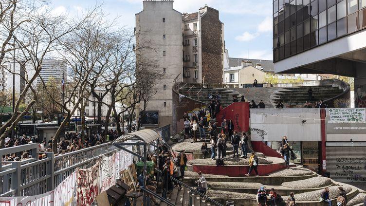 La faculté de Tolbiac, dans le 13e arrondissement de Paris, le 13 avril 2018. (MAXPPP)
