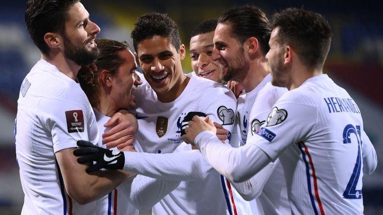 L'équipe de France s'est imposée 1 à 0 face à la Bosnie, mercredi 31 mars. (FRANCK FIFE / AFP)