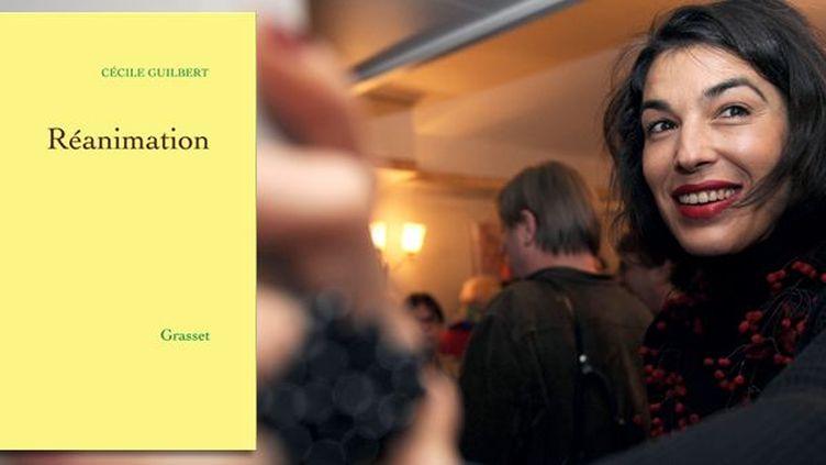 """Cécile Guilbert, auteur de """"Réanimation"""", Grasset  (Boris Horvat / AFP)"""
