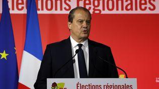 Le premier secrétaire du PS, Jean-Christophe Cambadélis, le 13 décembre 2015 après les résultats du second tour des régionales. (FRANCOIS GUILLOT / AFP)