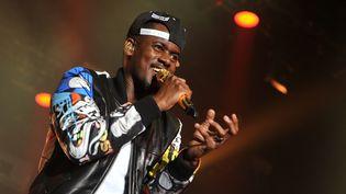 Le chanteur Black M en concert au Printemps de Bourges le 28 avril 2015. (GUILLAUME SOUVANT / AFP)
