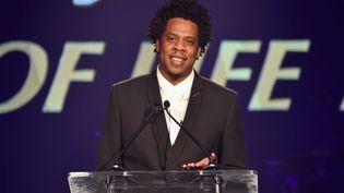 Le rappeur et businessman Jay-Z s'exprime lorsdu City of Hope Spirit of Life Galaà Santa Monica (Californie, Etats-Unis), le 11 octobre 2018. (KEVIN MAZUR / GETTY IMAGES NORTH AMERICA)