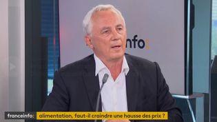 Didier Duhaupand, patron du groupement Les Mousquetaires invité de franceinfo le 13 septembre 2021. (FRANCEINFO)