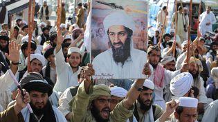 Une manifestation contre les Etats-Unis après la mort d'Oussama Ben Laden, le leader d'Al-Qaïda, à Quetta, au Pakistan, le 2 mai 2011. (BANARAS KHAN / AFP)