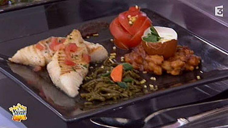 Filet de poisson aux mogettes