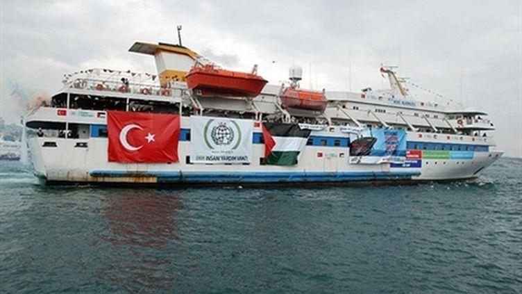 Un des bateaux de la flottille d'aide humanitaire pour Gaza (mai 2010) (AFP / Free Gaza Movement)