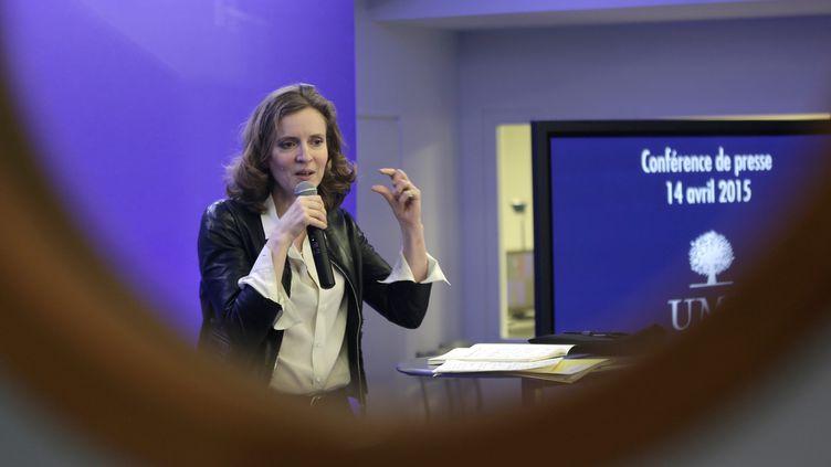 Nathalie Kosciusko-Morizet, vice-présidente déléguée de l'UMP,donne une conférence de presse au siège de l'UMP, le 14 avril 2015. (  MAXPPP)