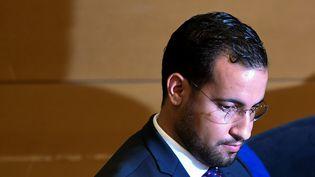 Alexandre Benalla lors de son audition par le Sénat, le 19 septembre 2018 à Paris. (ALAIN JOCARD / AFP)