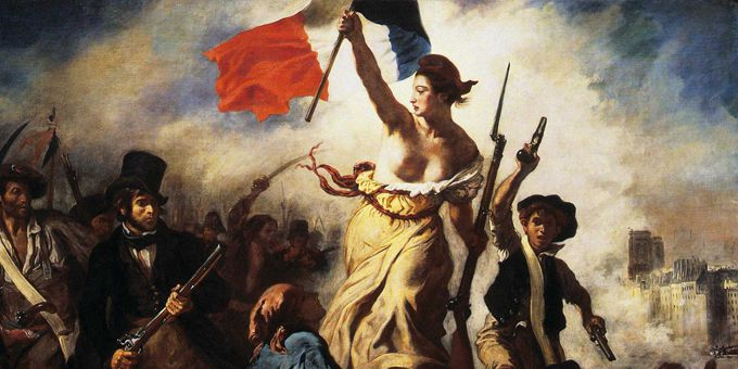 La Liberté guidant le peuple, Eugène Delacroix, 1831  (ZENOBEL/E.R.L./SIPA )