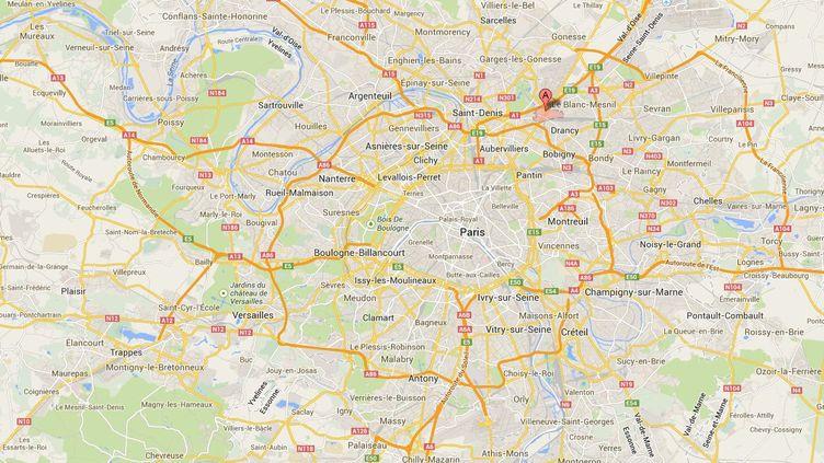 Le collégien est soupçonné d'avoir violé une jeune femme, le 24 janvier au Bourget (Seine-Saint-Denis),et d'en avoir agressé deux autres, les 2 janvier et 7 février. ( GOOGLE MAPS / FRANCETV INFO )