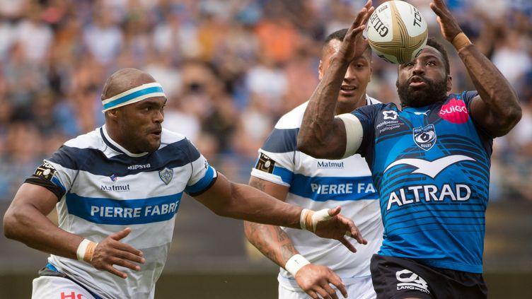 Le capitaine de Montpellier, Fulgence  Ouedraogo. (BERTRAND LANGLOIS / AFP)