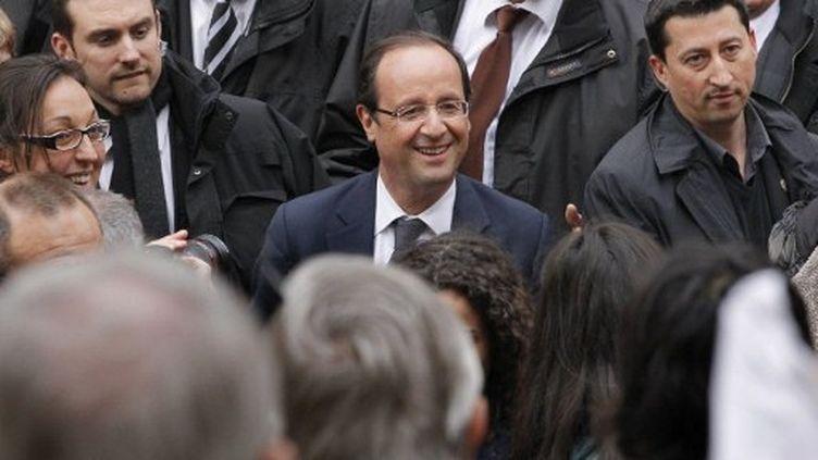 François Hollande à Albi (17 avril 2012) (PATRICK KOVARIK / AFP)