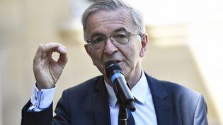 Le président PS de la région Centre-Val de Loire, François Bonneau, lors d'une conférence de presse à Matignon, le 30 juillet 2020, à Paris. (STEPHANE DE SAKUTIN / AFP)