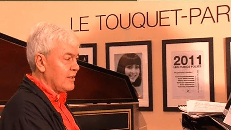 """Le pianiste du Bolchoï Alexei Goribol en pleine répétition dans le cadre du 9e festival de musique classique """"Les Pianos Folies""""  (France 3)"""