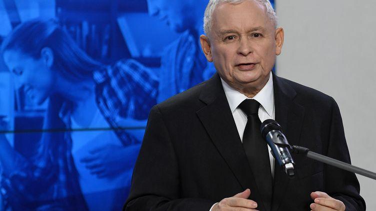 Jaroslaw Kaczynski à Varsovie, le 14 novembre 2017. (JANEK SKARZYNSKI / AFP)