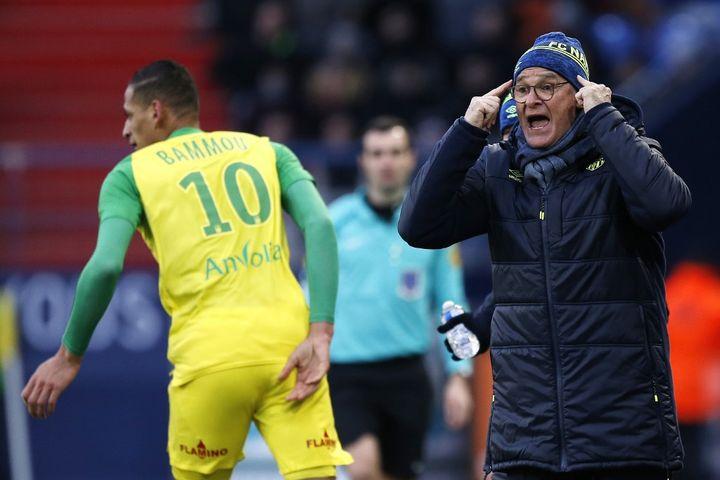 La nomination de Claudio Ranieri, âgé de 66 ans, au poste d'entraîneur du FC Nantes n'avait pas plu à Raymond Domenech. (CHARLY TRIBALLEAU / AFP)