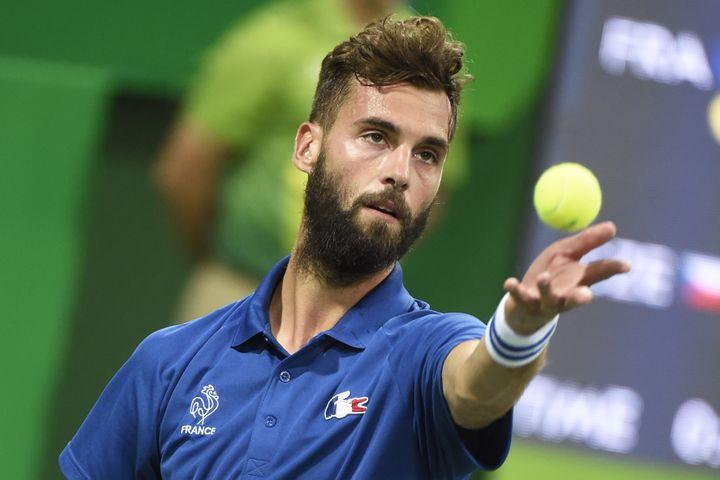 Le tennisman français Benoît Paire, le 7 août 2016 à Rio (Brésil). (JEAN MARIE HERVIO / DPPI MEDIA / AFP)